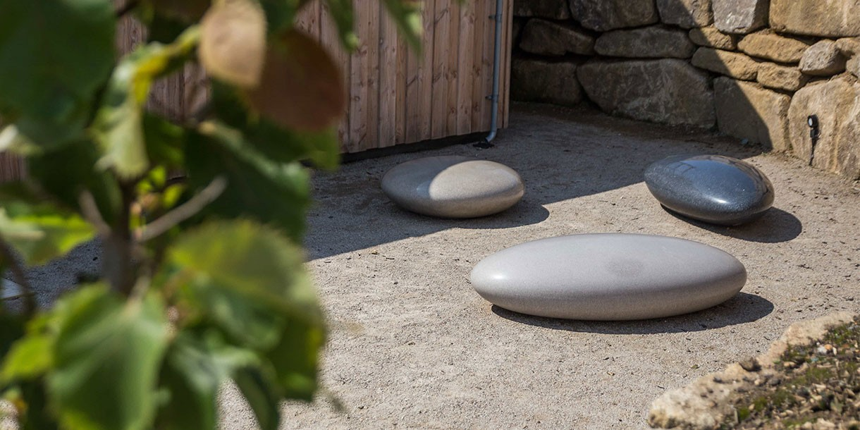 Pebble Seating - outdoor seating - polished concrete by Ben Barrell