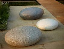 Our concrete Pebble Seats come in a variety of sizes - Ben Barrell