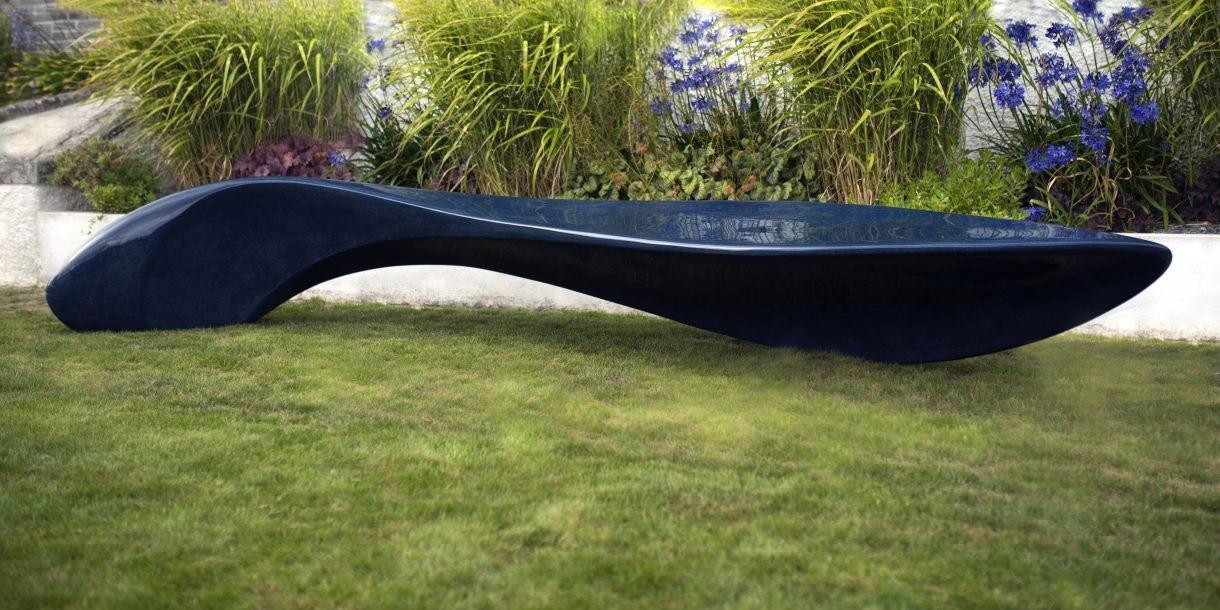 Wave bench sculpture by Ben Barrell