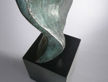 The Large Wing bronze sculpture - looking at the base - by Ben Barrell
