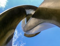 looking up - blue sky sculpture - Ben Barrell