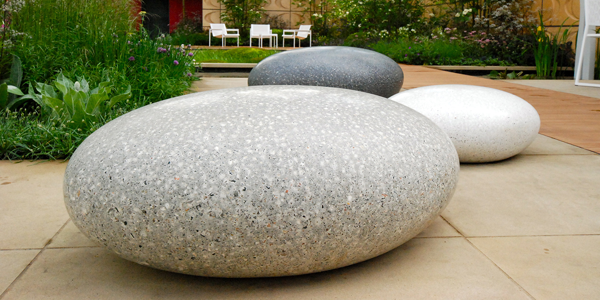 Pico Pebble Seats Chelsea Flower Show 2015