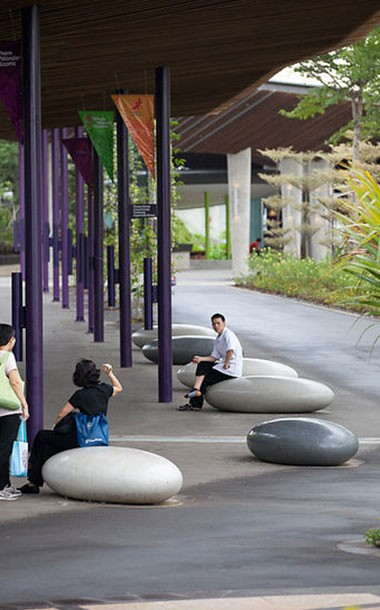 Concrete Pebble Seats - more examples by Ben Barrell