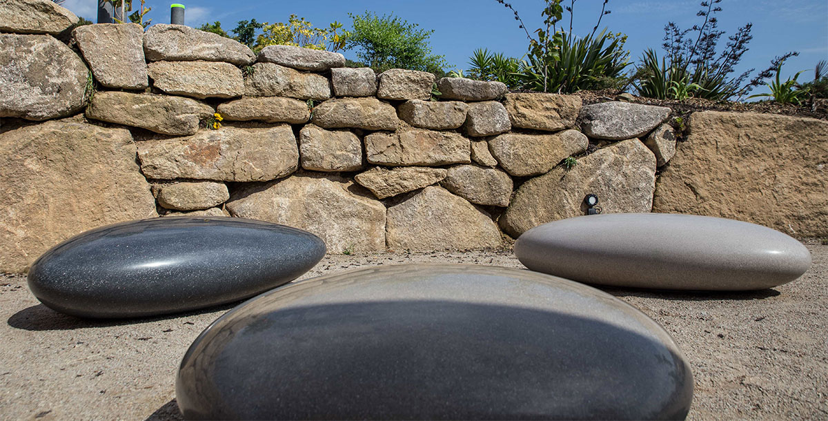 Concrete Pebble Seats by Ben Barrell