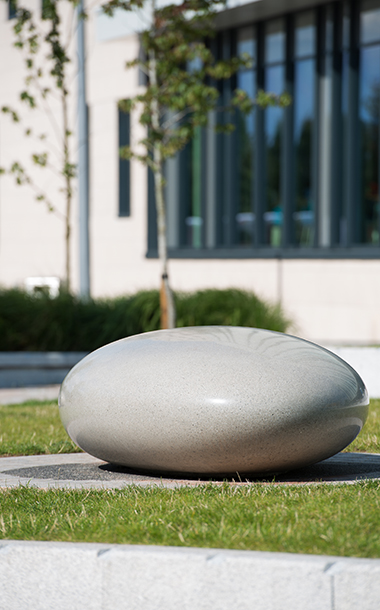 Concrete Pebble Seats - Outdoor Seating by Ben Barrell