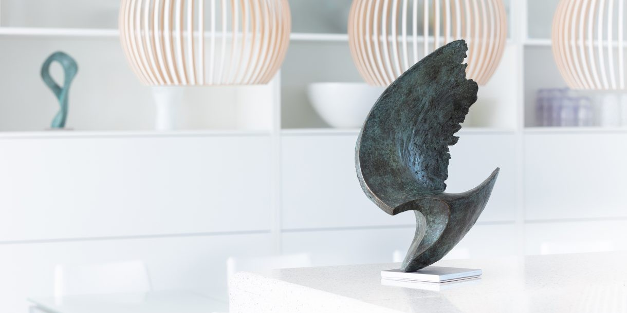 Wave sculpture by Barrell for interior spaces
