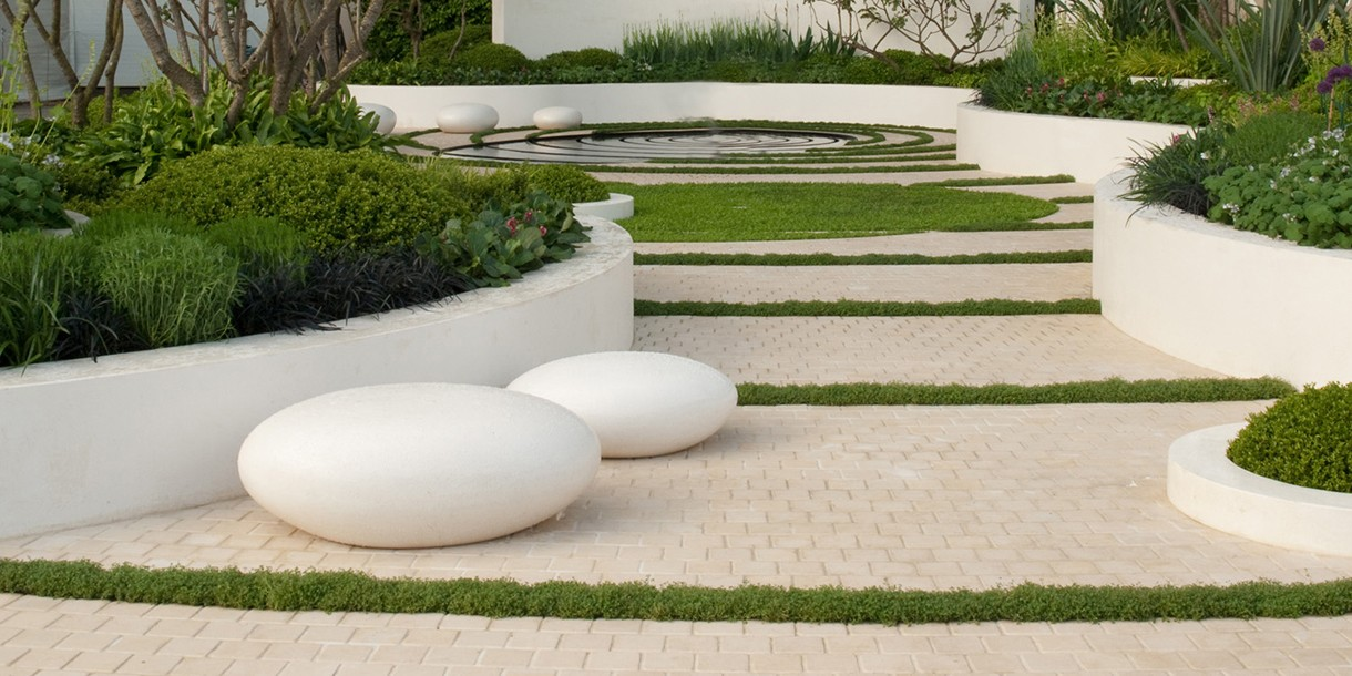 Pebble seats at the Chelsea Flower Show