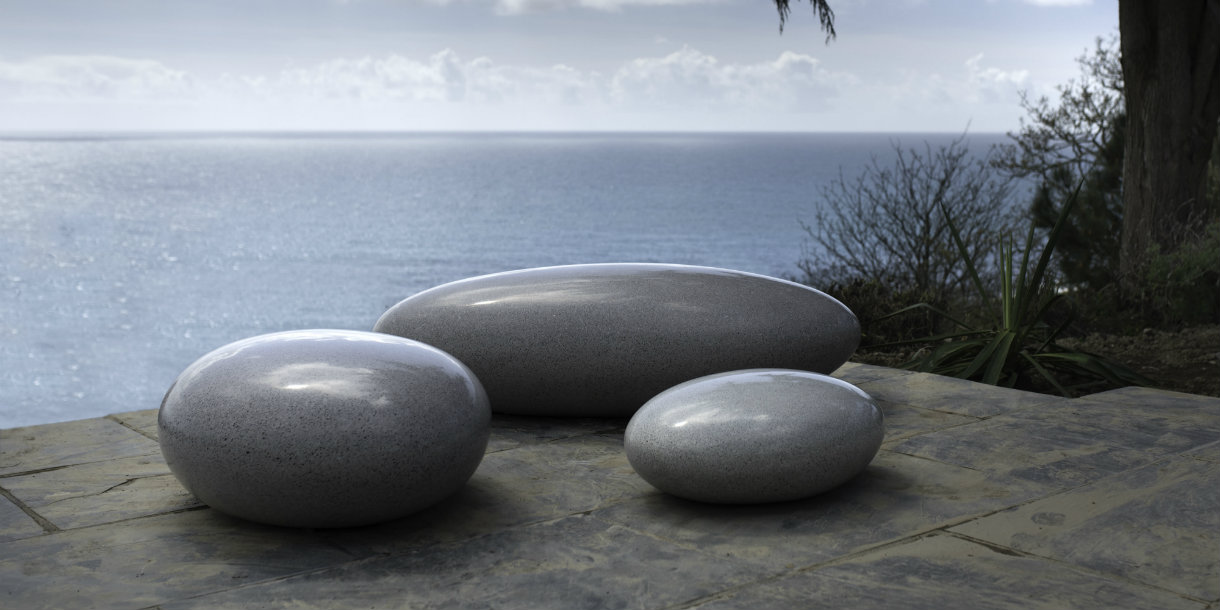 Pebble Seats original Sculptural Pebble Seats from Barrell Sculpture