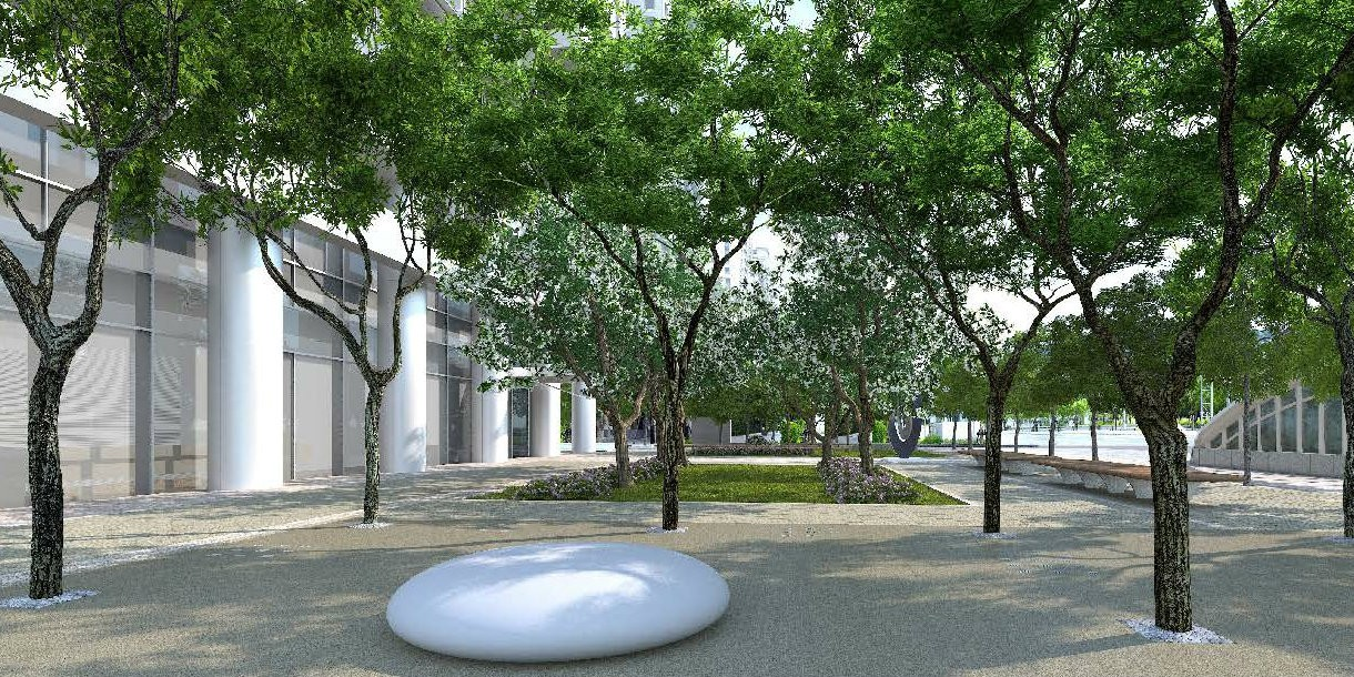 Pebble Seat Sculpture Ben Barrell Taipei Artists impression