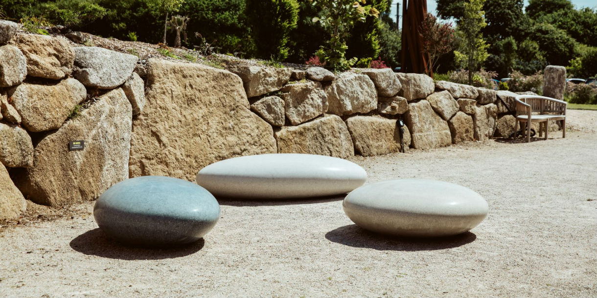 Pendeen Pebble Seats at Tremenhere Sculpture gardens