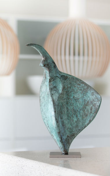 Bronze sculpture for interior spaces by Ben Barrelll