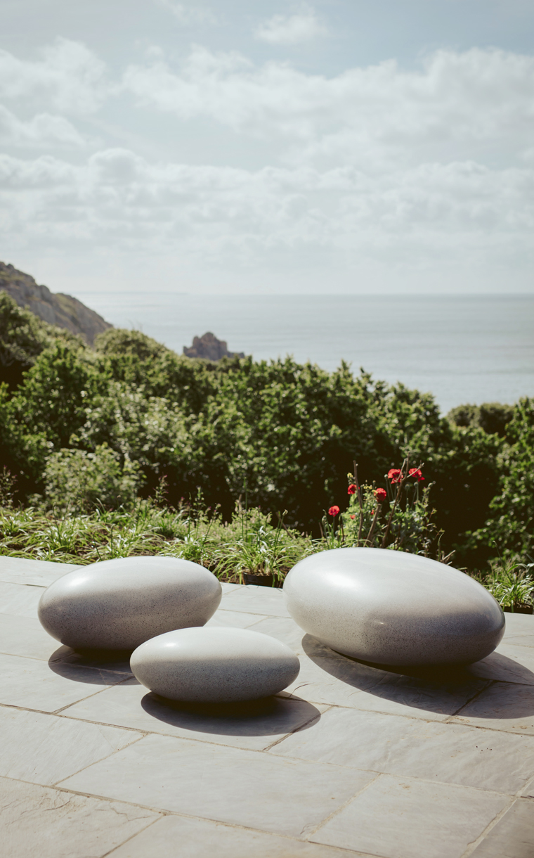 Pebble Seats made with silky polished concrete
