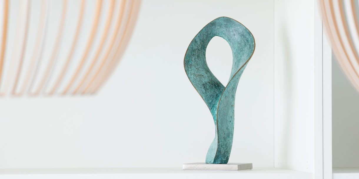 Swirl studio work bronze Ben Barrell