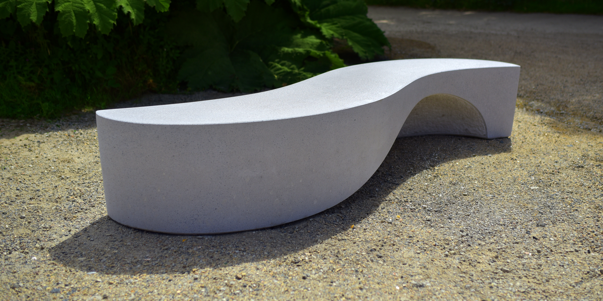 Wave bench sculptural seating