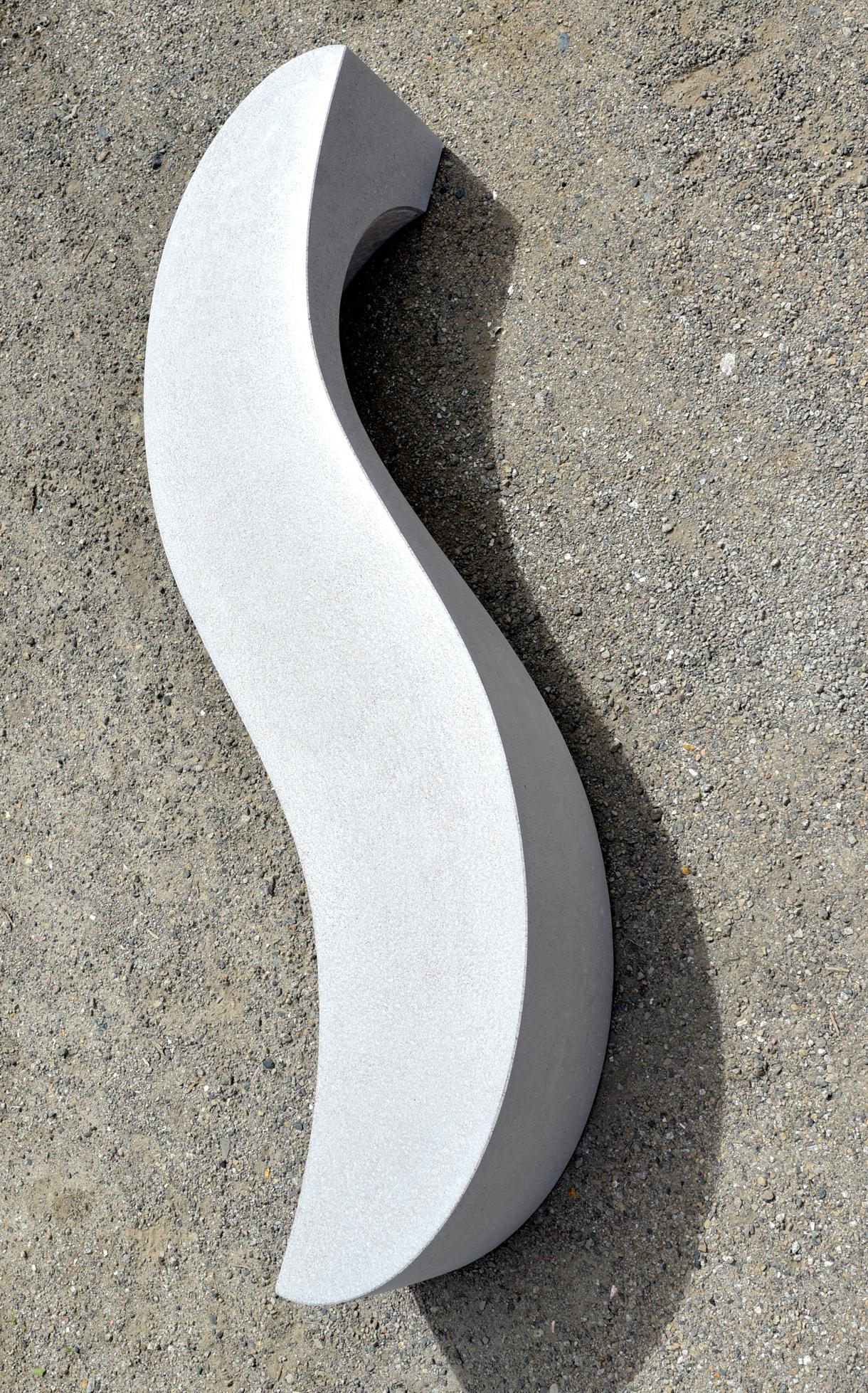 Wave bench by artist Ben Barrell