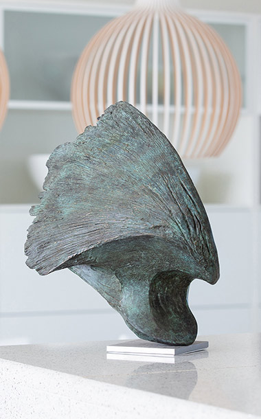 Bronze Wave sculpture made by artist Ben Barrell