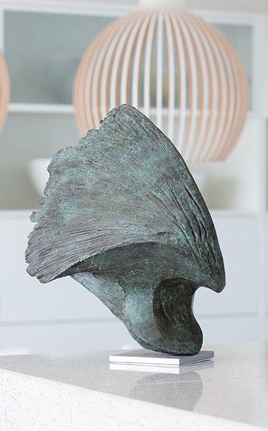 Bronze Wave sculpture made by artist Ben Barrell