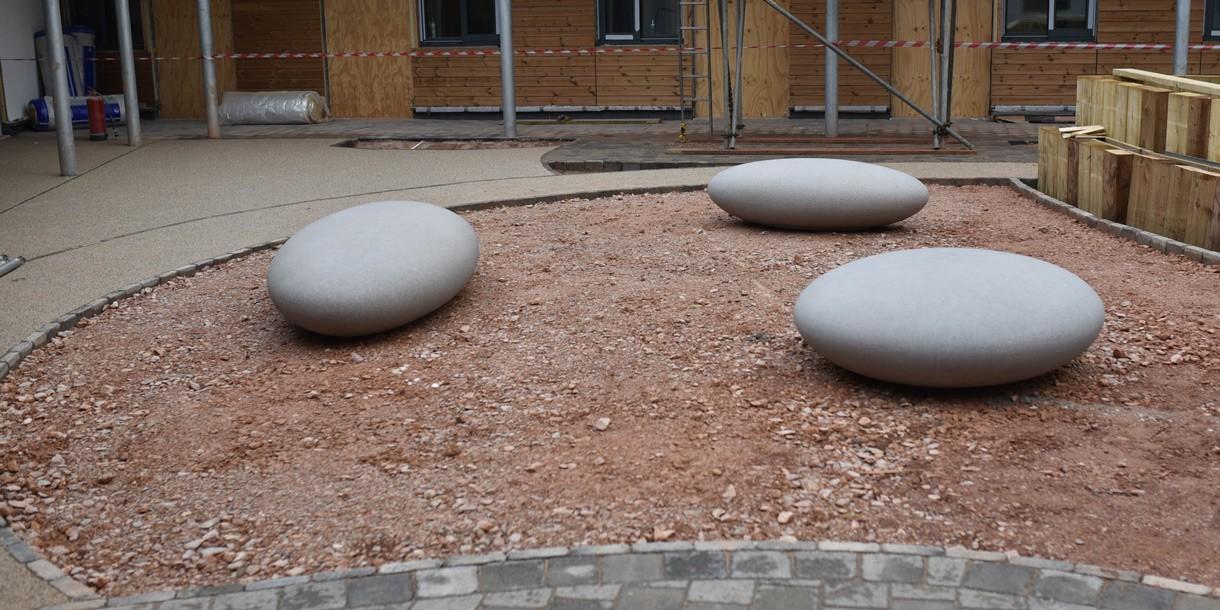 Matt Pebble Seats from Barrell Sculpture