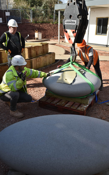Installing the Pebble Seats at Exeter MBU